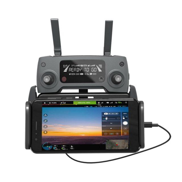 PGYTECH DJI Mavic 2 Pro/Zoom Tablet Pad Holder Mavic Air/Pro/Spark Remote Control Monitor Bracket Mount for iPad Phone