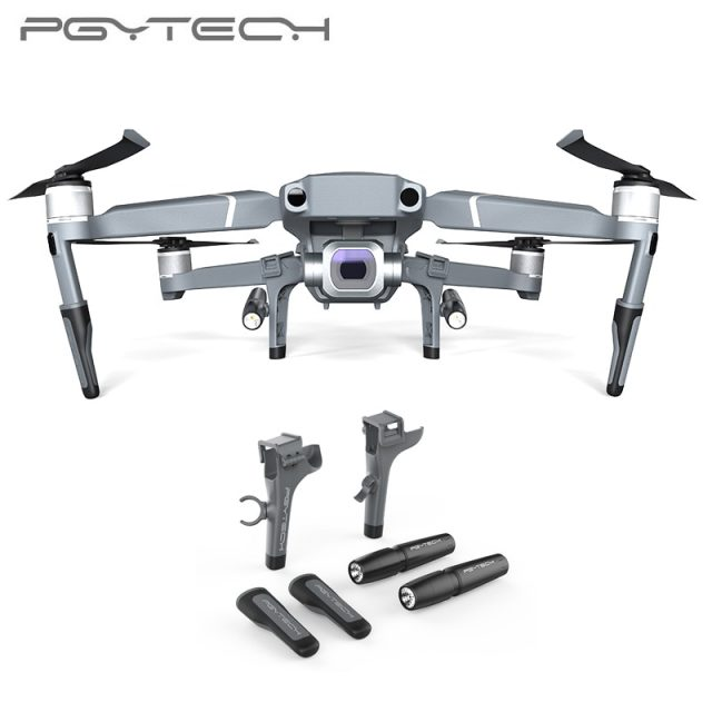 PGYTECH Landing Gear for DJI Mavic 2 Pro Zoom Extended Leg Support Protector Extension LED Headlamp set For Mavic 2 Accessories
