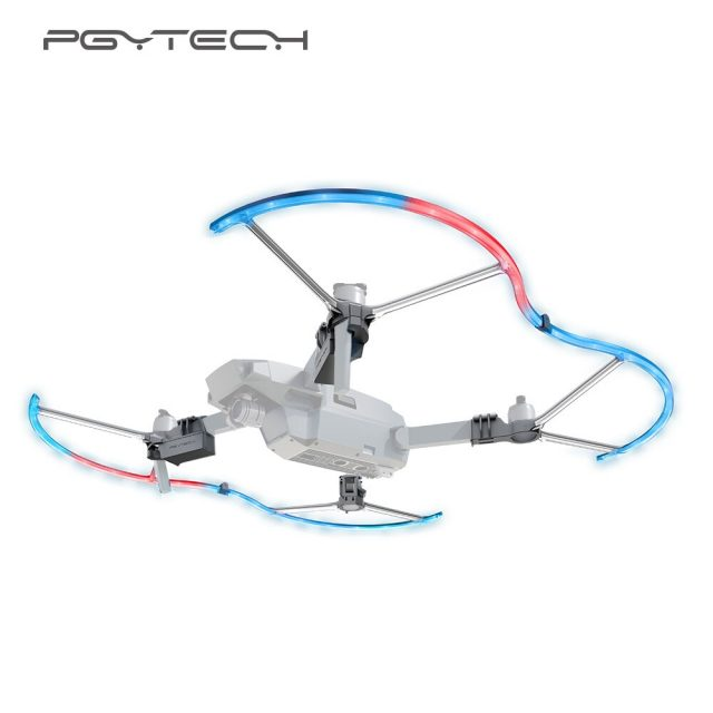 PGYTECH LED DJI Mavic Pro Light Propeller Guard Anti-Collision LED Colorful Lighting Protection Guard Blades for DJI Mavic Pro