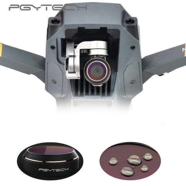 PGYTECH DJI Mavic Pro & Platinum Lens Filter Anti-UV Multi- Layer Coating Drone Camrea Lens with Gold Edge G-MRC UV Lens