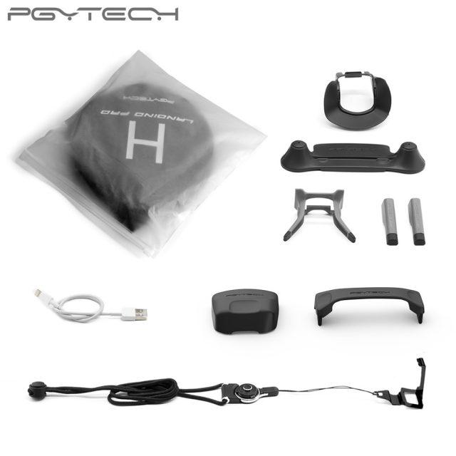 PGYTECH Accessories Combo for Mavic pro/Platinum (landing pad/Control Stick Protector/Lens Hood /propeller holder/landinggear)