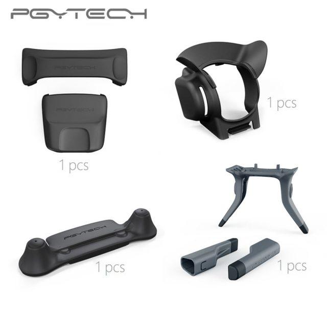 PGYTECH 4pcs Set Remote Control Guard & Lens Hood & Landing Gear Leg&Propeller Motor Hood For DJI Mavic Pro Bundled Sale