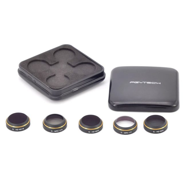 PGYTECH 5pcs/set original Lens Filters G-HD-MRC(UV ND4 ND8 ND16 CPL) Lens For DJI MAVIC Pro Accessories Drone Quadcopter