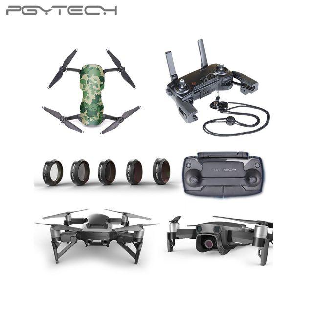 PGYTECH Mavic Air Accessories ND filter landing gear extensions lens hood landing pad Accessories for DJI Mavic Air Combo (PRO)