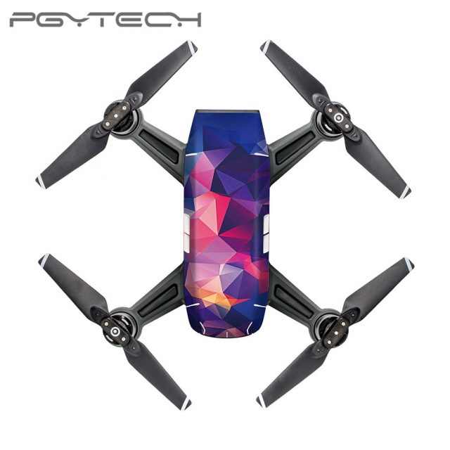PGYTECH DJI SPARK Carbon Graphic Color Sticker Camouflage Decals Drone Waterproof PVC Body Skin Stickers D3/D4/D5/D6/D7/D8