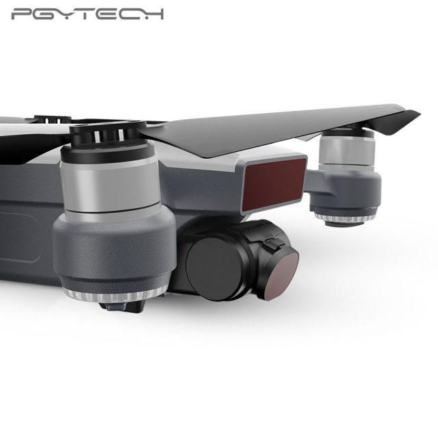 PGYTECH 5pcs/set Spark original Lens Filters G-HD-MRC(UV ND4 ND8 ND16 PL) Lens For DJI Spark Accessories Drone