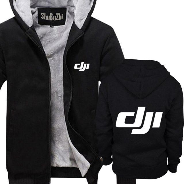 Dji Phantom shubuzhi men Winter padded zipper sweatshirt thick fleece jacket coat fashion hoodies casual print cool hoody