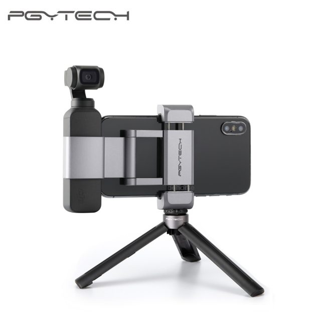 5 Options PGYTECH DJI OSMO POCKET Phone Holder Adapter Mount Tripod Selfie Stick Handheld Gimbal Accessories